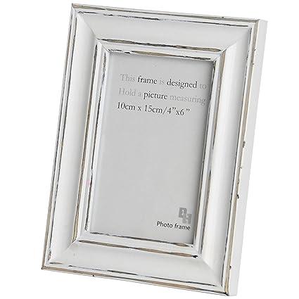 Amazon.com - Hill Interiors Distressed Antique White Photo Frame (8 ...
