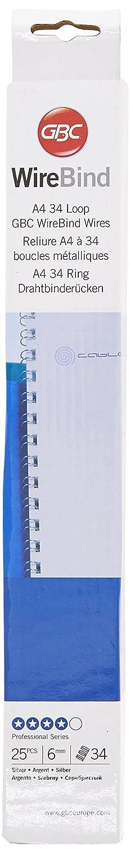 Rexel 4400697 Pack de 25 Peignes de Reliure 3:1 Wire 9.5 mm Argent