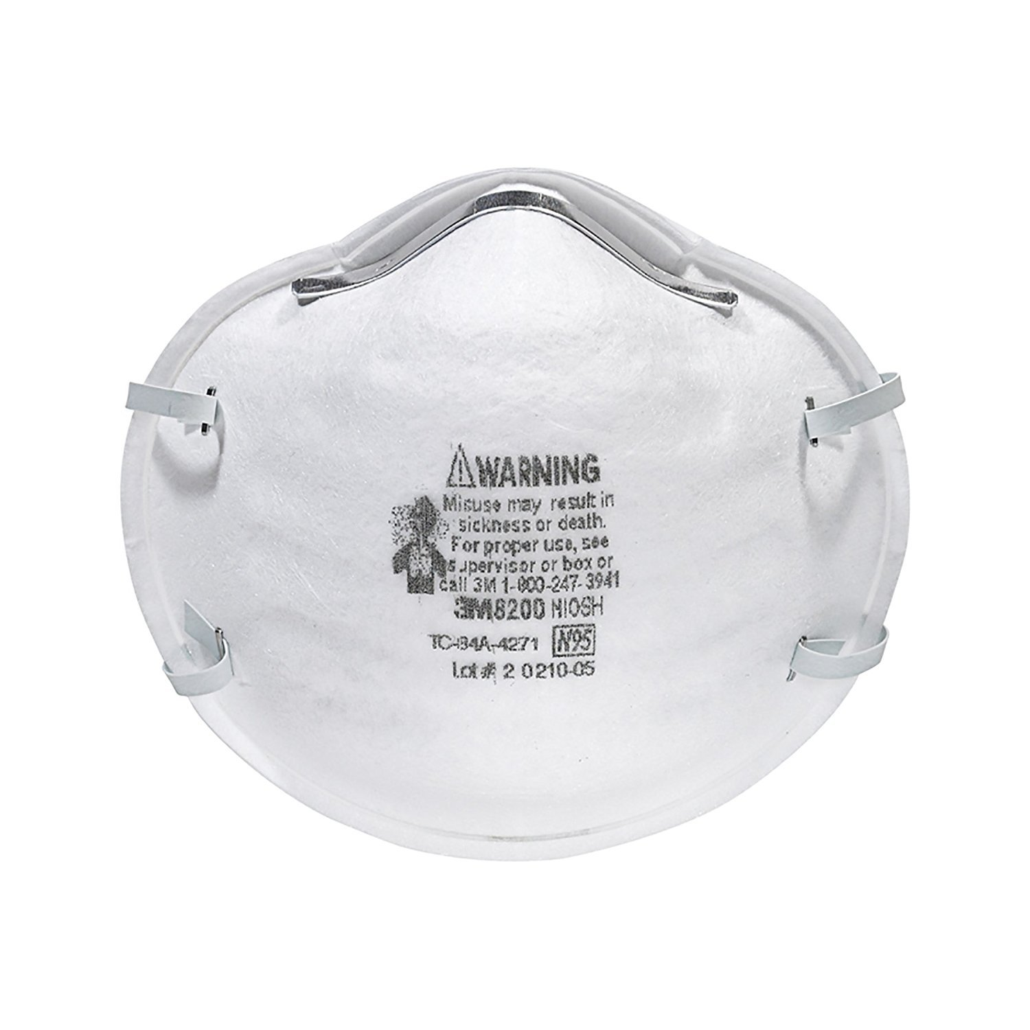 3M 8200 Particulate Respirator N95, 2 Boxes of 20 (40) by 3M