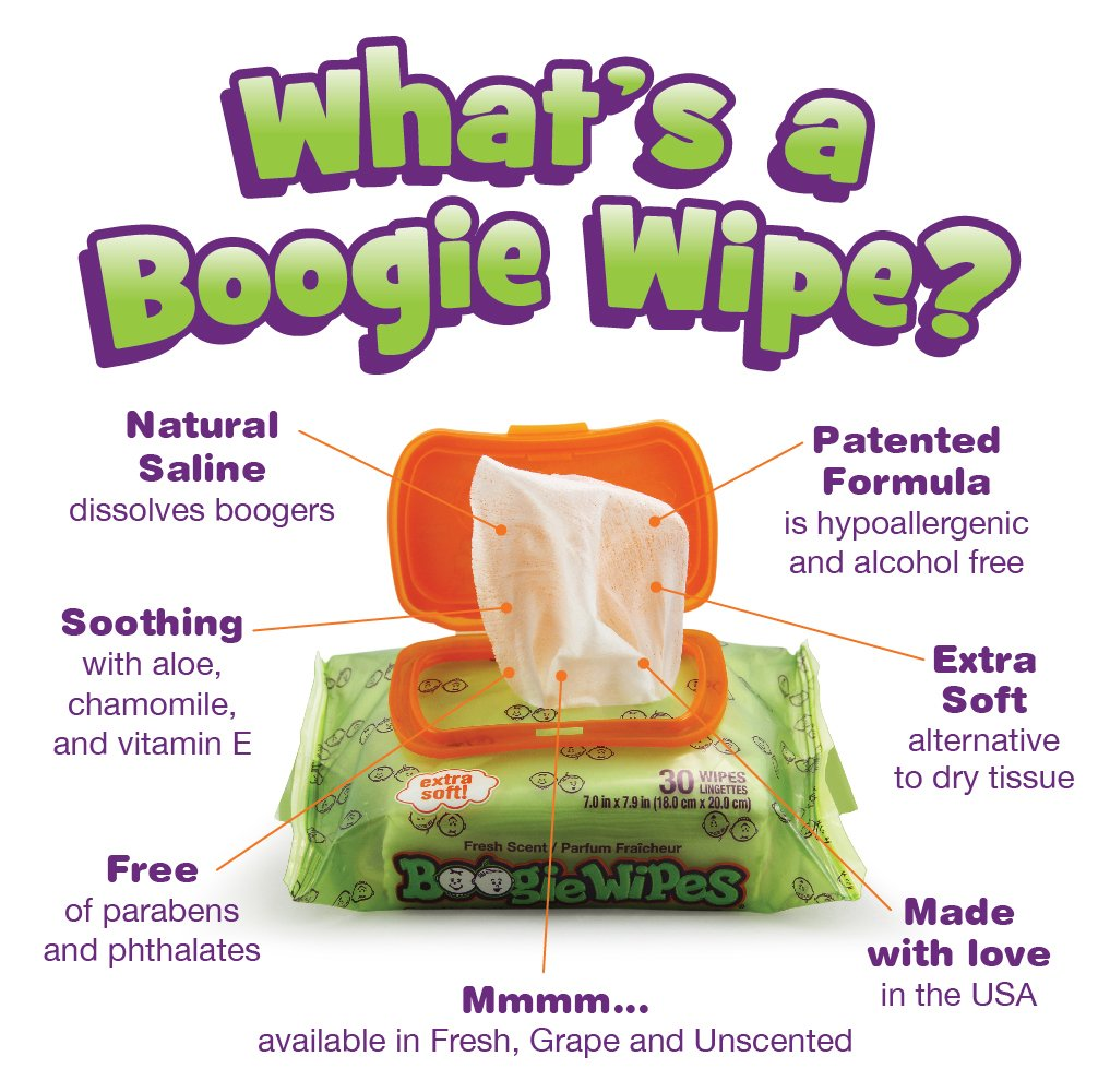Boogie Wipes Soft Natural Saline Wet Tissues for Baby and Kids Sensitive Nose, Hand, and Face with Moisturizing Aloe, Chamomile, and Vitamin E, Unscented, 30 Count (Pack of 3) by Boogie Wipes (Image #5)