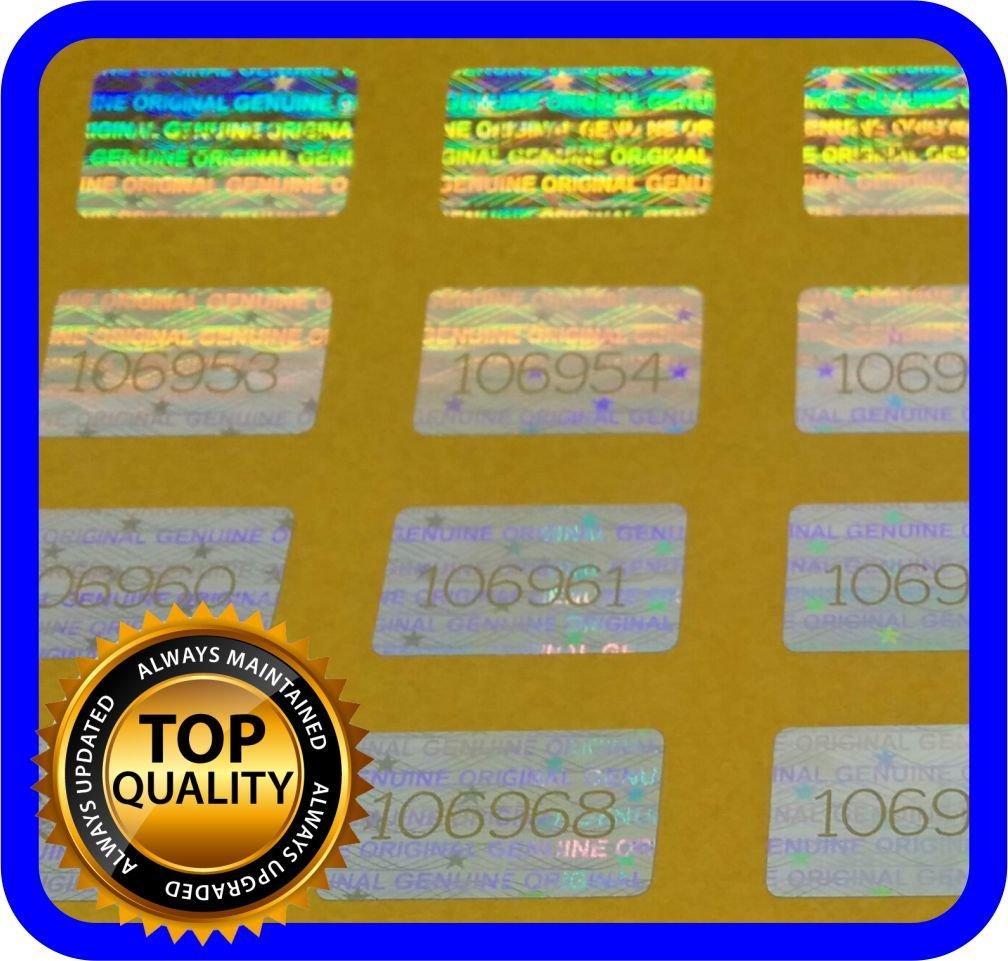 Hologramm Etiketten mit Seriennummern 500 St Garantie Siegel Aufkleber 16x10mm