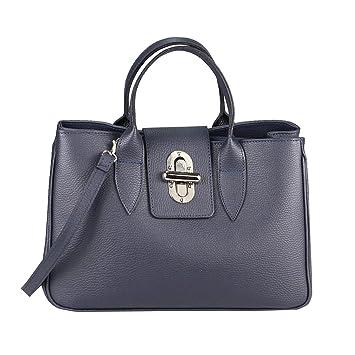 26e6e0f6146fe OBC Made in Italy Damen Echt Leder Tasche Business Shopper Aktentasche  Schultertasche Handtasche Ledertasche Umhängetasche Tote