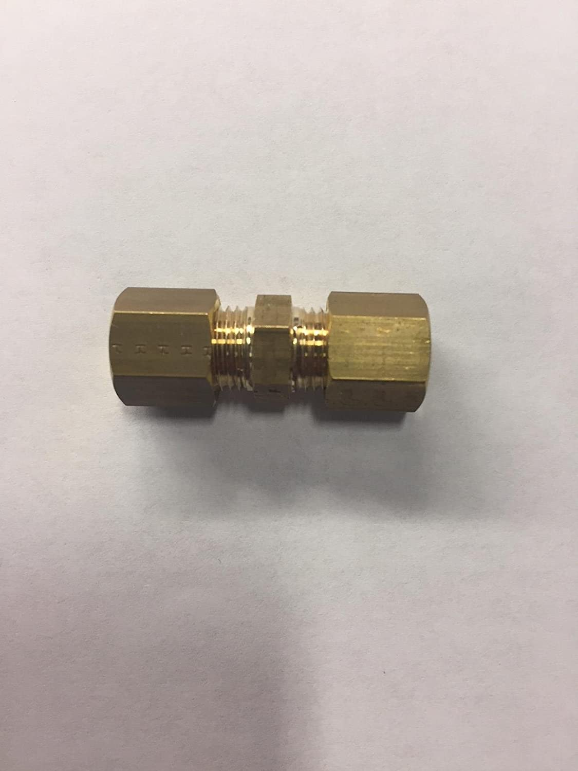 Connector 22 mm Tube to Tube Pack of 10 Parker 0106 22 00-pk10 Compression Fitting 22 mm Brass