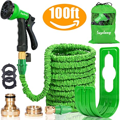 f7dc728c4abaf Suplong Expandable Garden Water Hose Pipe - 100FT Magic Expanding Hose with  3 4