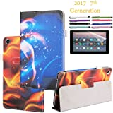 """EpicGadget Amazon Fire HD 10"""" Case (2017) With Auto Sleep/Wake, Fire HD 10 7th Gen Stand Lightweight Cover PU Leather Case For 2017 Fire HD 10 + 1 Screen Protector and 1 Stylus (Fire and Water)"""
