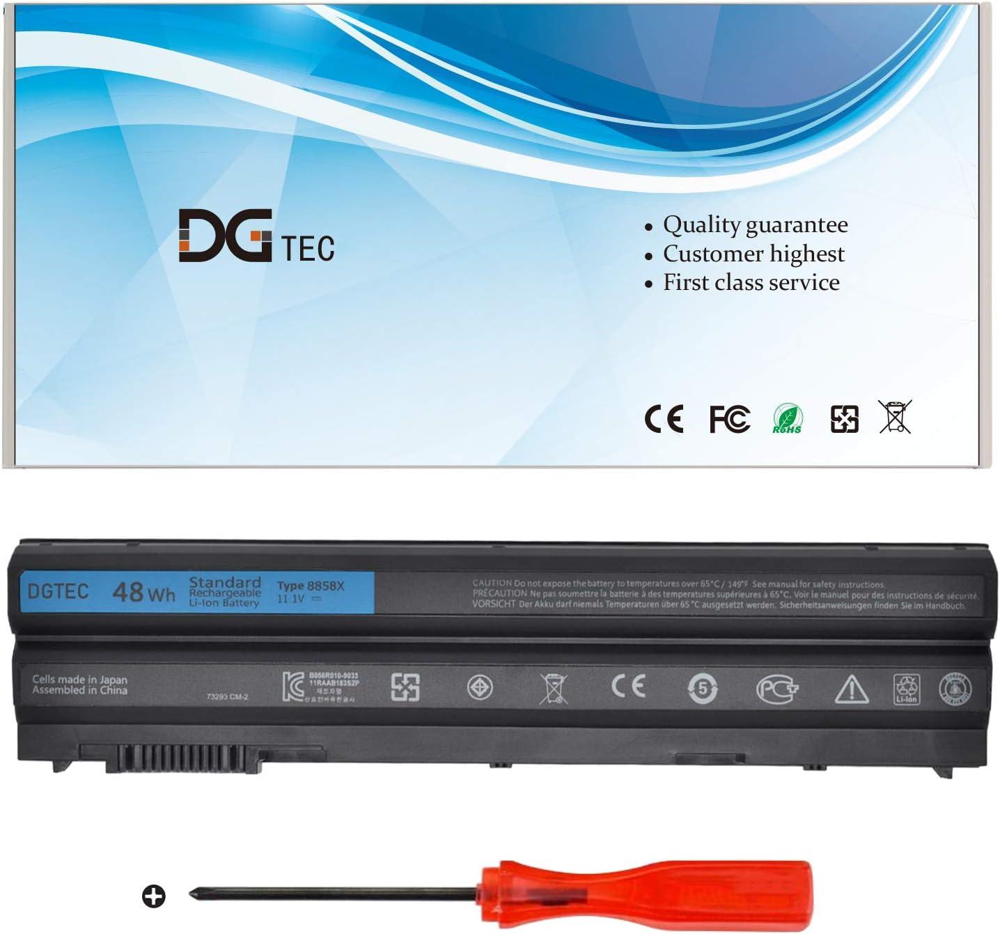 DGTEC New 8858X Replacement Laptop Battery Compatible with Dell Latitude E5420 E5430 E5520 E5530 E6530 E6420 E6430 Inspiron 14R 5420 15R 5520 7520 17R 5720 7720 M5Y0X T54F3 4YRJH 0T54FJ (11.1V 48Wh)