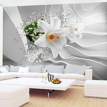 Fototapete Blumen 3D Lilien Weiß Vlies Wand Tapete Wohnzimmer ...