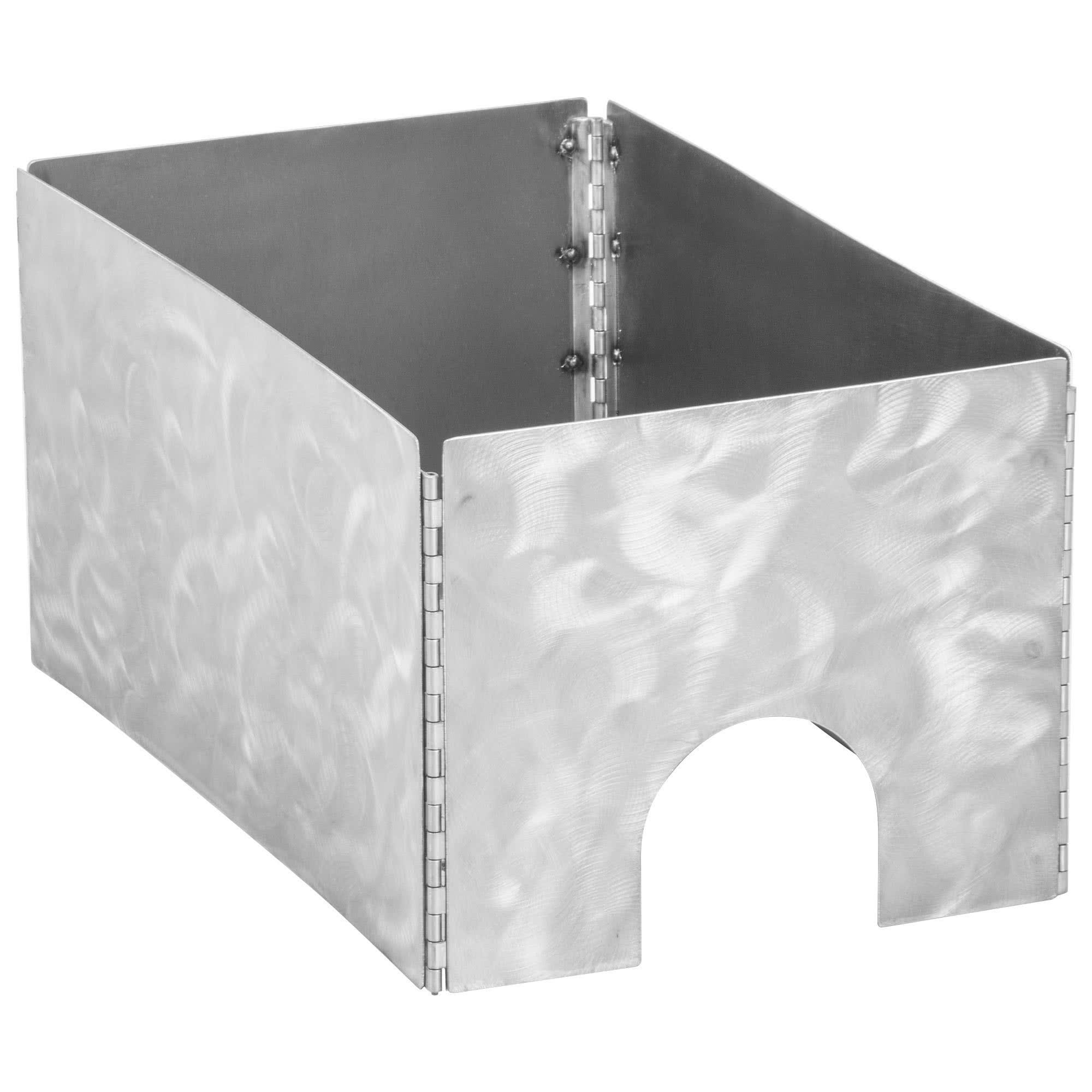 TableTop king Caterware CW600RSS 1-Well Collapsible 16 Gauge Random Swirl Stainless Steel Server - 12 1/2'' x 20 1/2'' x 10''