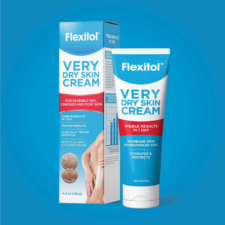 Flexitol Very Dry Skin Cream,Rich Moisturizing Body Cream with Urea, 4.4 Ounce Tube