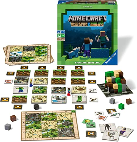 NEW Ravensburger Minecraft Builders /& Biomes Games 26132 Board Card Game