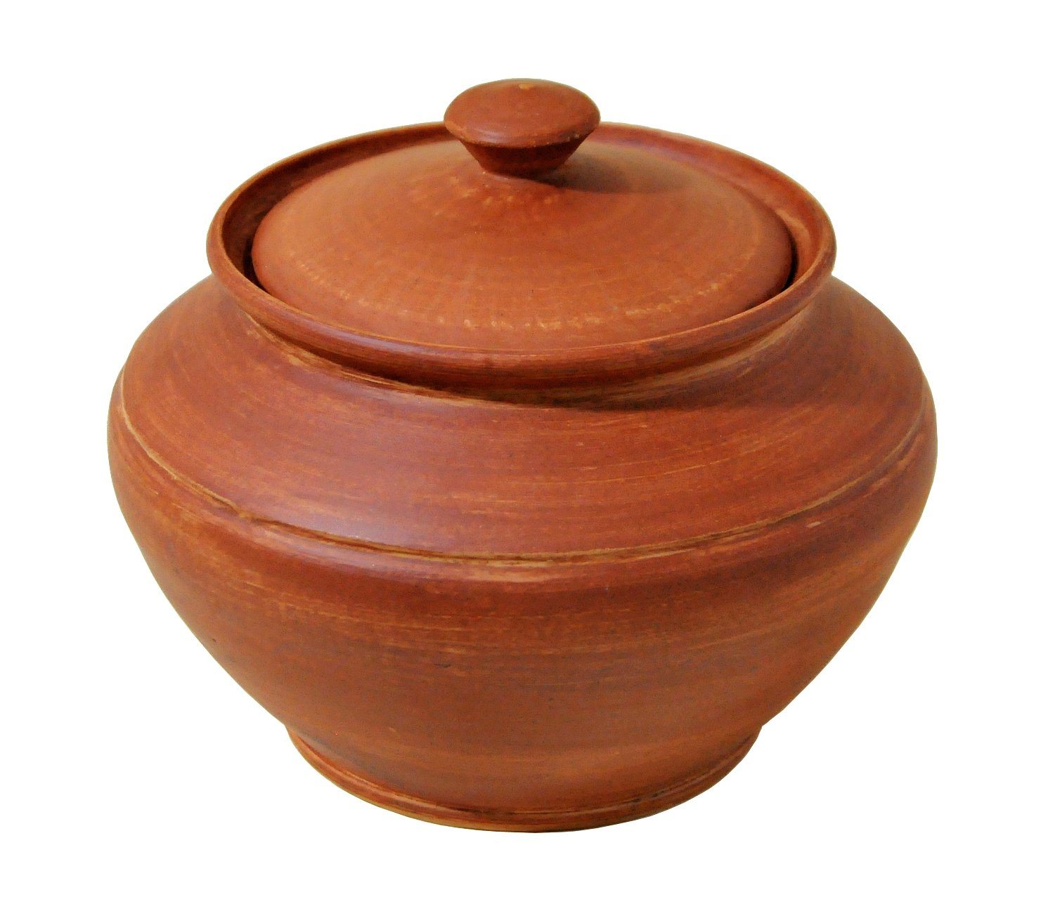 Handmade 50oz 1.5L Ceramic Cooking Pot Red Clay Kitchen Artisan Cookware Semin