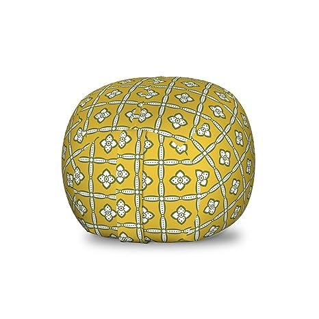 Awe Inspiring Amazon Com Lunarable Mustard Storage Toy Bag Chair Retro Inzonedesignstudio Interior Chair Design Inzonedesignstudiocom