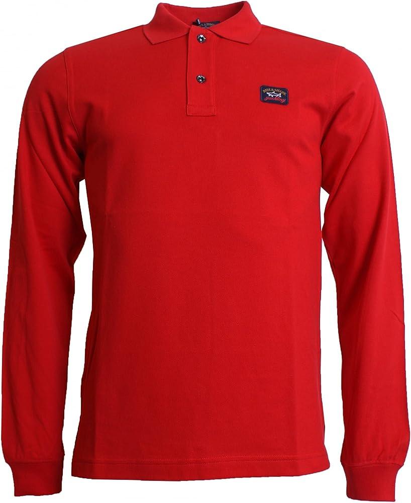 PAUL & SHARK Camisa Polo de Manga Larga Rojo XXX Large: Amazon.es ...