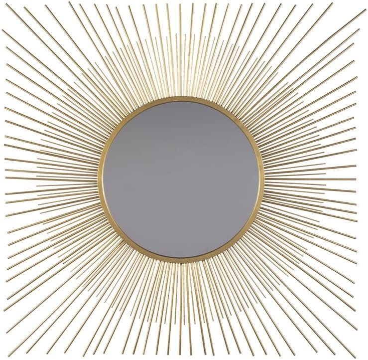 Signature Design by Ashley - Elspeth Accent Mirror - Contemporary - Gold Finish