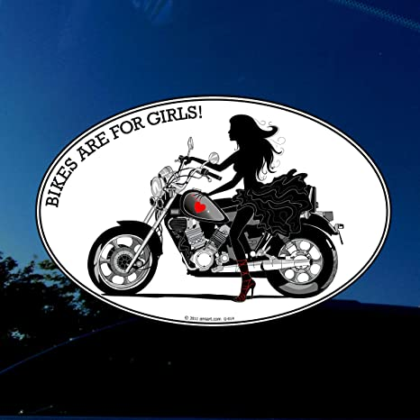 Lady Rider Vinyl Decal Motorcycle Sticker Chopper Female Riding Ride Biker Babe