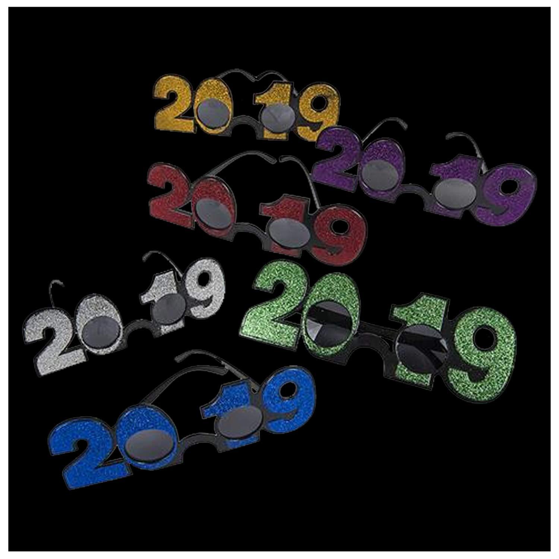 Lumistick 2019 Glitter Glasses (Assorted, 12 Pack)