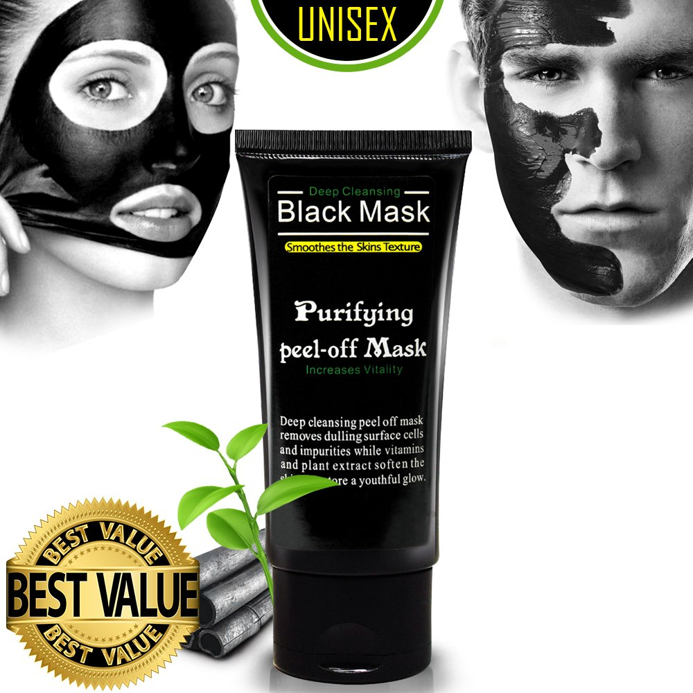 Amazon.com  Charcoal Cool Peel off Mask Ultimate Purifying Black Mask for  Men   Women 4ac418105f