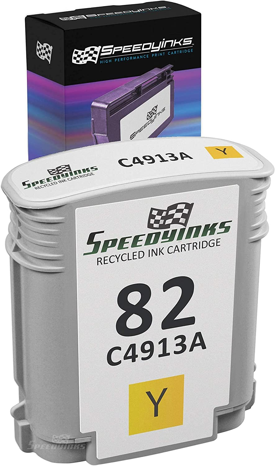 Speedy Inks Remanufactured Ink Cartridge Replacement for HP 82 C4913A (Yellow)