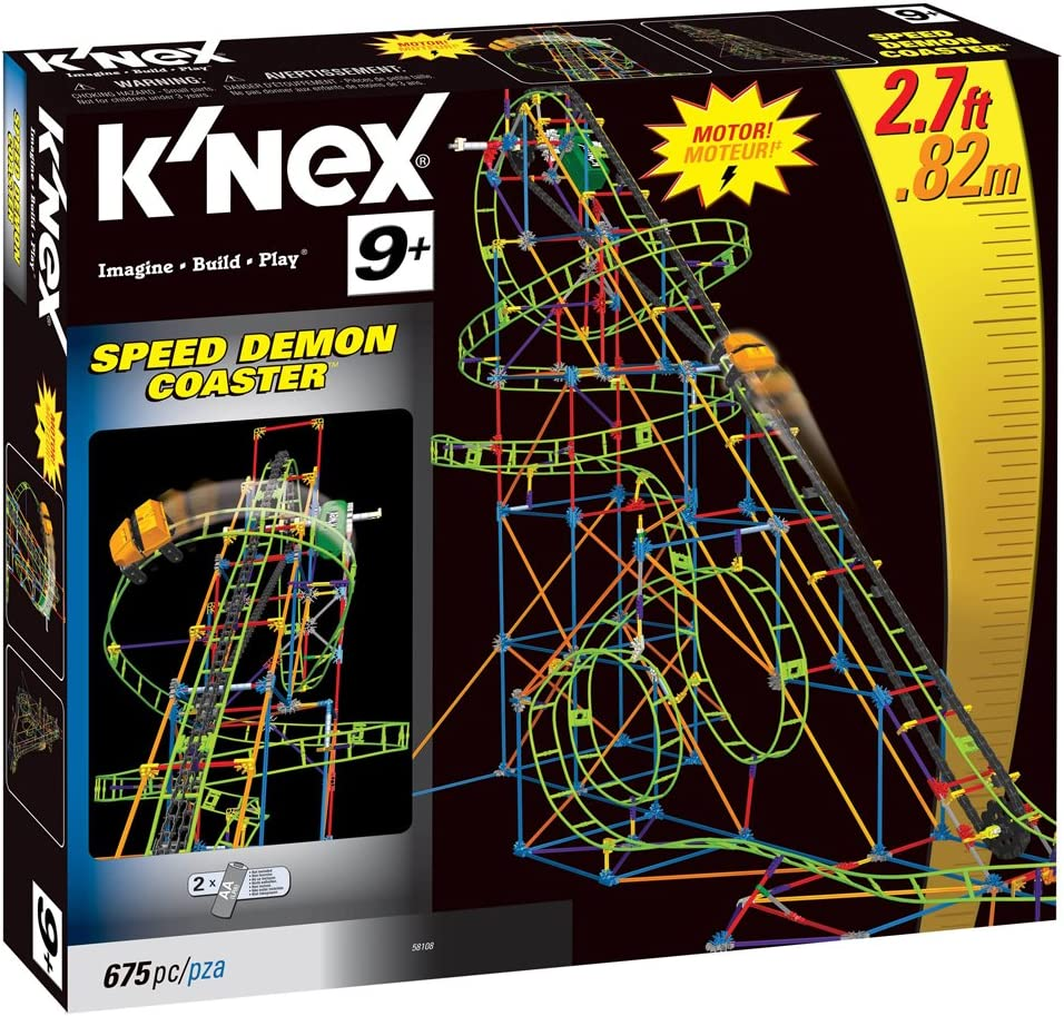 K/'Nex KNEX 100 GREEN TRACK CONNECTOR RIPPIN ROCKET ROLLER COASTER FREE SHIP