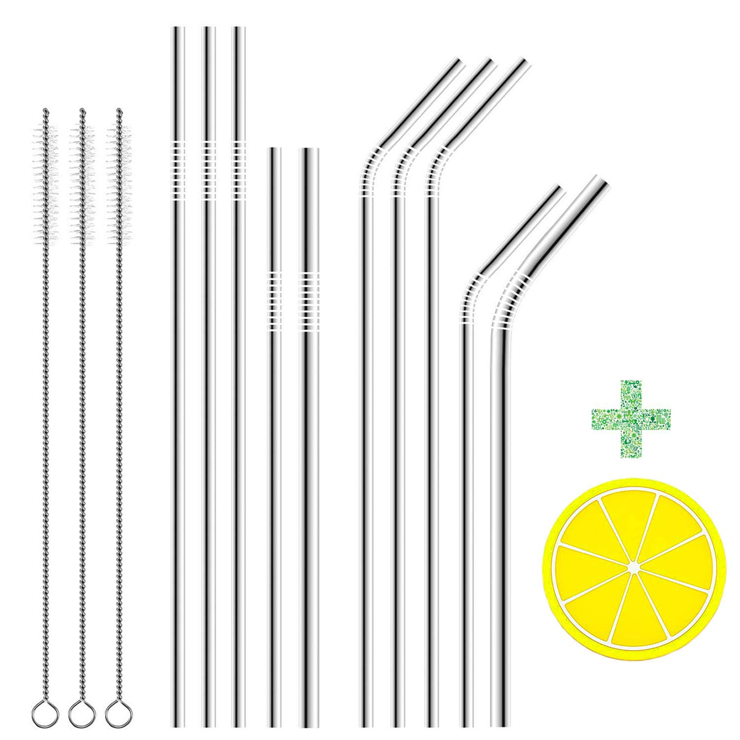 Home & Garden Set Of 8 Stainless Steel Straws With Silicon Cover Tifanso Drinking Metal Coffee