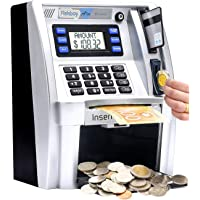Coin Money Bank Piggy Bank Gift for Kids and Adult Digital Piggy Bank Counter Moontie 1.8L CA Coins Transparent Money Saving Jar with LCD Display