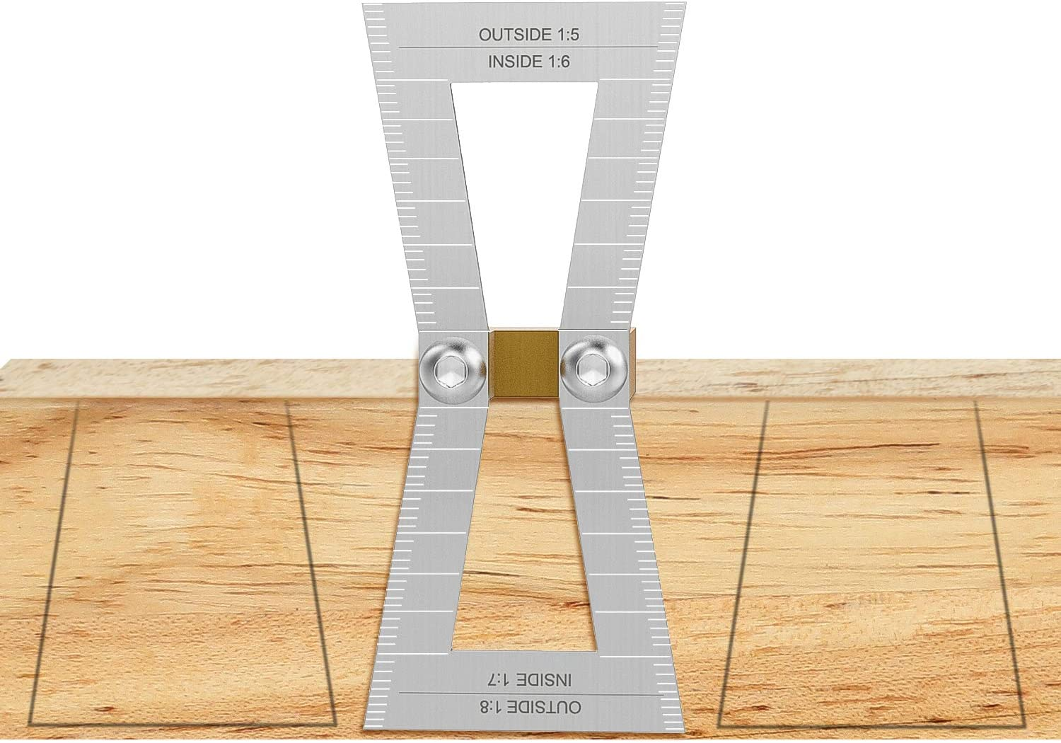 Housolution Stainless Steel Dovetail Marker  for Beginners Woodworker