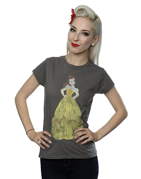 531a60f5bc3 Disney Women s Beauty and The Beast Classic Belle T-Shirt X-Small Charcoal