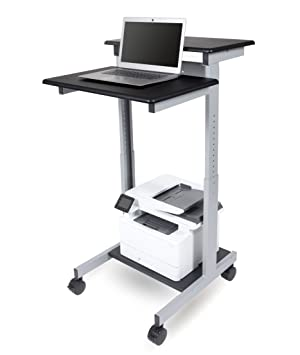 online store 7e850 0e3ae Mobile Standing Desk Computer Workstation (Black, Desk Length: 60cm)