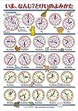 【時計の読み方ポスター】学習ポスター 知育教材