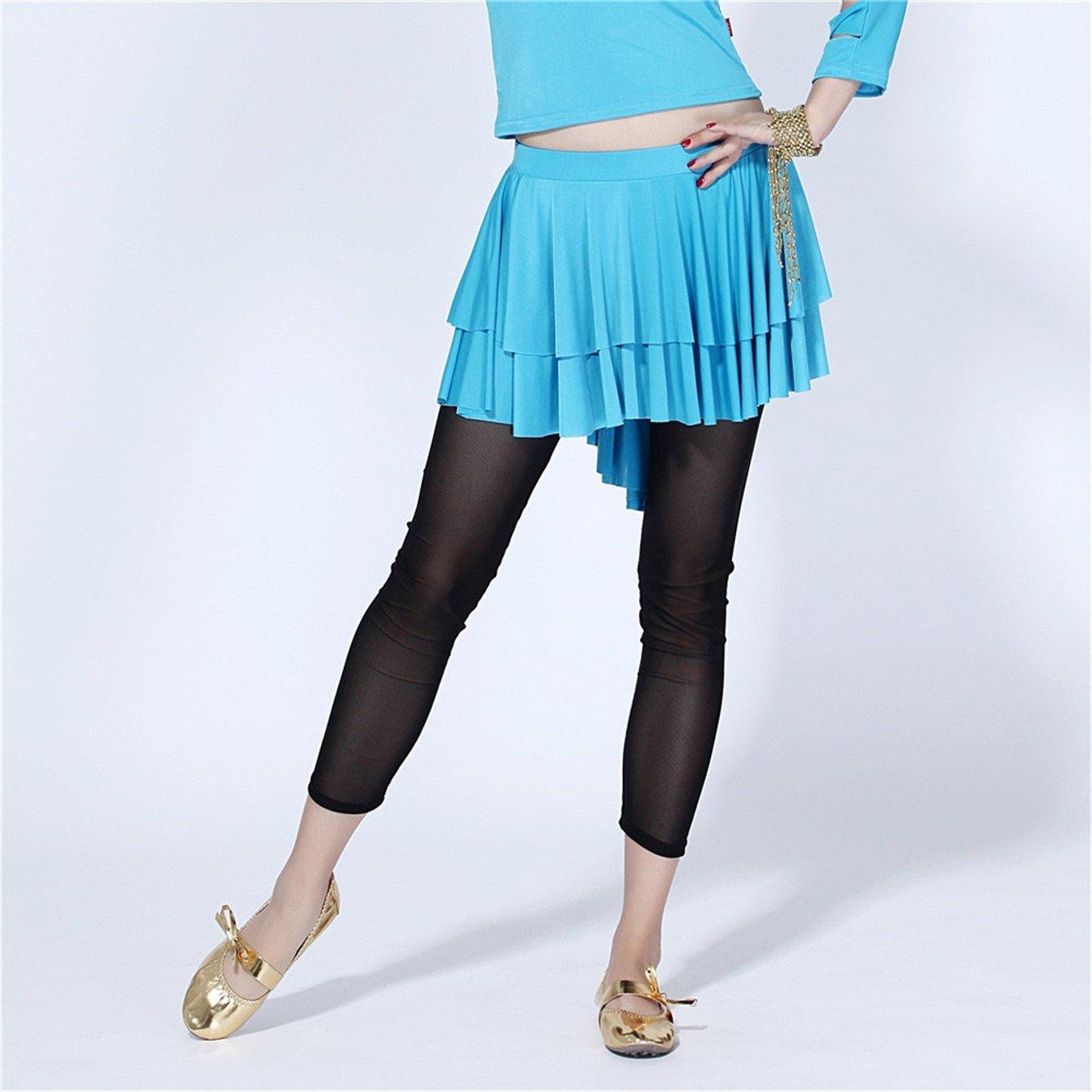 Para mujer danza del vientre falda niveles falda vestido de sirena ...