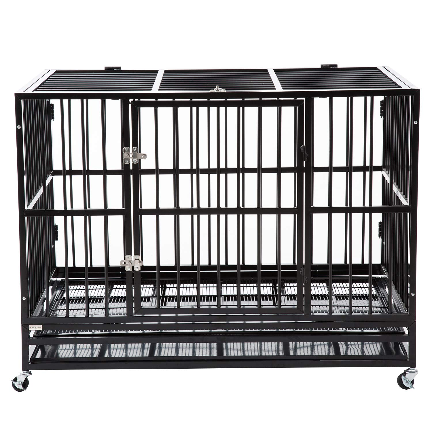 Bestmart INC 48'' Heavy Duty Dog Cage Crate Kennel Metal Pet Playpen Portable w/ Tray NEW by Bestmart INC