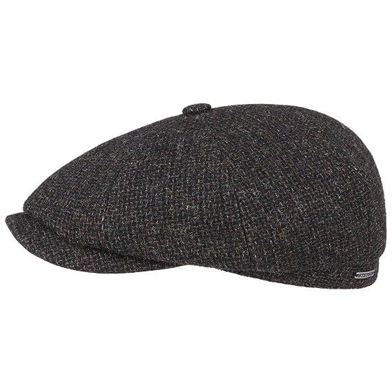 833a0df288f Stetson Hatteras Shetland Wool Flat Cap Ivy hat  Amazon.co.uk  Clothing