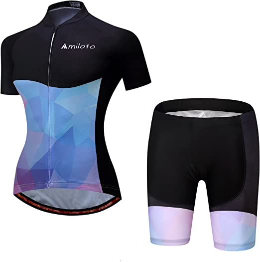 Women Cycling Jersey Bicycle Clothing Set Bike Short Sleeve MTB Shirt Shorts Top