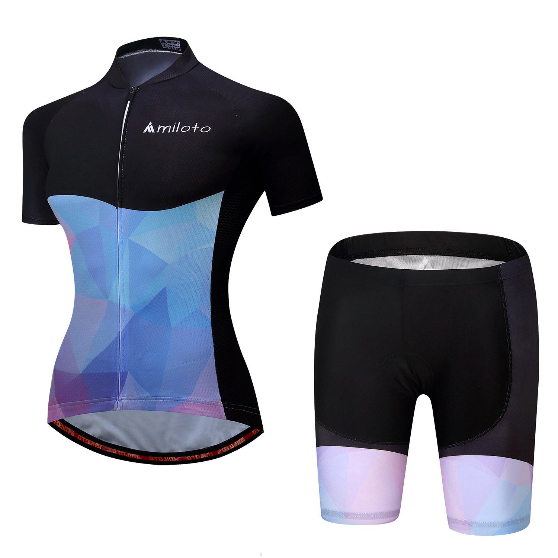 MILOTO Women's Cycling Jersey and Shorts Set Reflective Additex