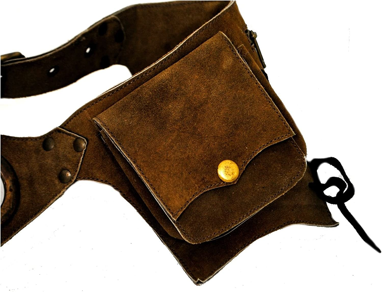 Terrapain Trading Fair Trade Hand Made Leather Funky Leather Bag Belt Bumbag Hippy Goth Emo