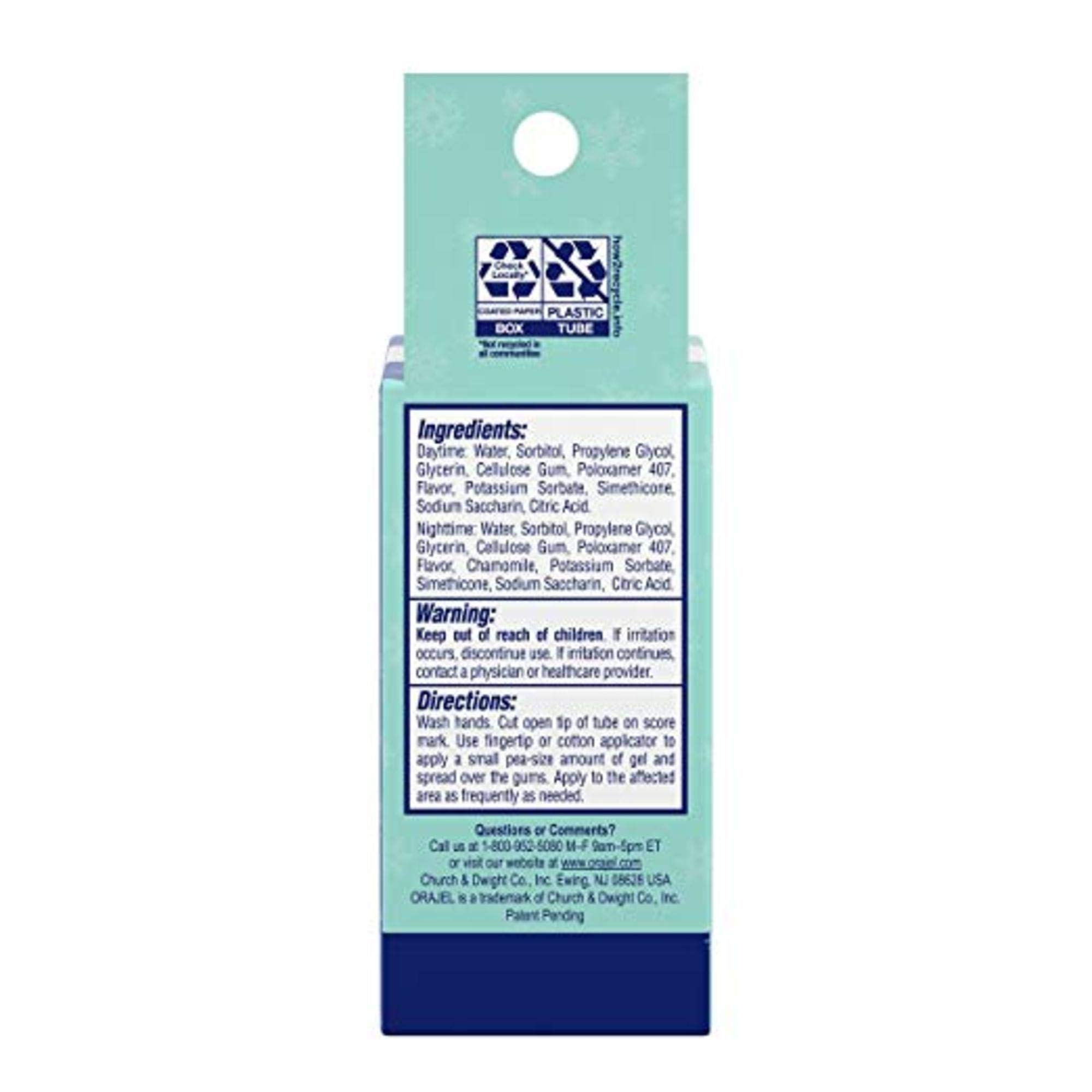 Baby Orajel, Non-medicated Cooling Gels For Teething, 2