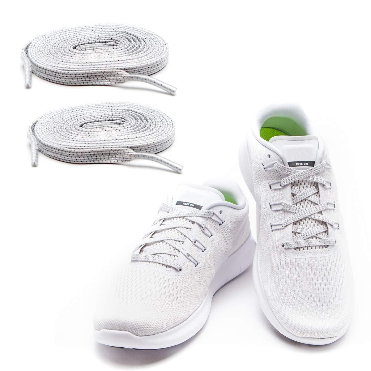 MAXXLACES - Cordones elásticos y planos, tensión ajustable para no tener que atar los zapatos, fáciles de usar, compatibles con todos los zapatos: ...