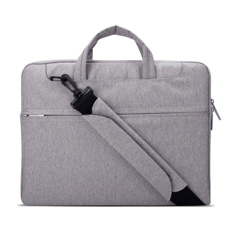 Laptop Shoulder Bag Messenger Bag Laptop Sleeve Waterproof Tablet Bag for 13-15.6inch MacBook pro Notebook Lenovo BenQ Samsung HP Computer (14inch, Grey)