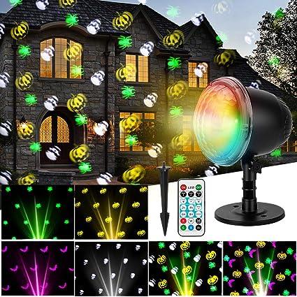 Amazon.com: Oecalia - Proyector de luz LED para Halloween ...