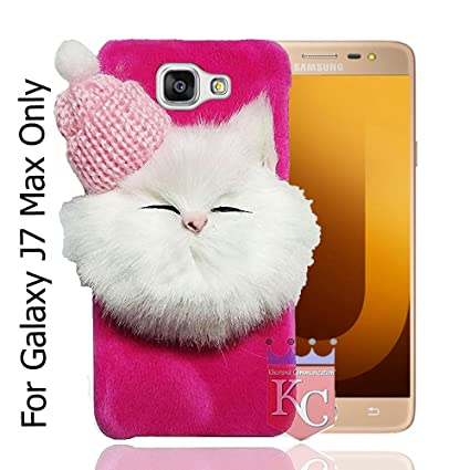 e3ae38d8f82 KC Soft Fluffy Fur Cartoon Kitty Girls Case with Woolen  Amazon.in   Electronics