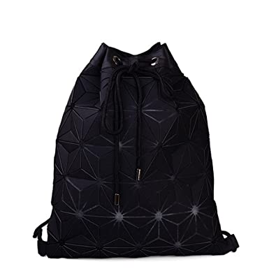 Melissa Wilde New Bao Backpack Geometric Plaid Female Scool Backpacks For Teenage Girls Pu Bagpack Holographic