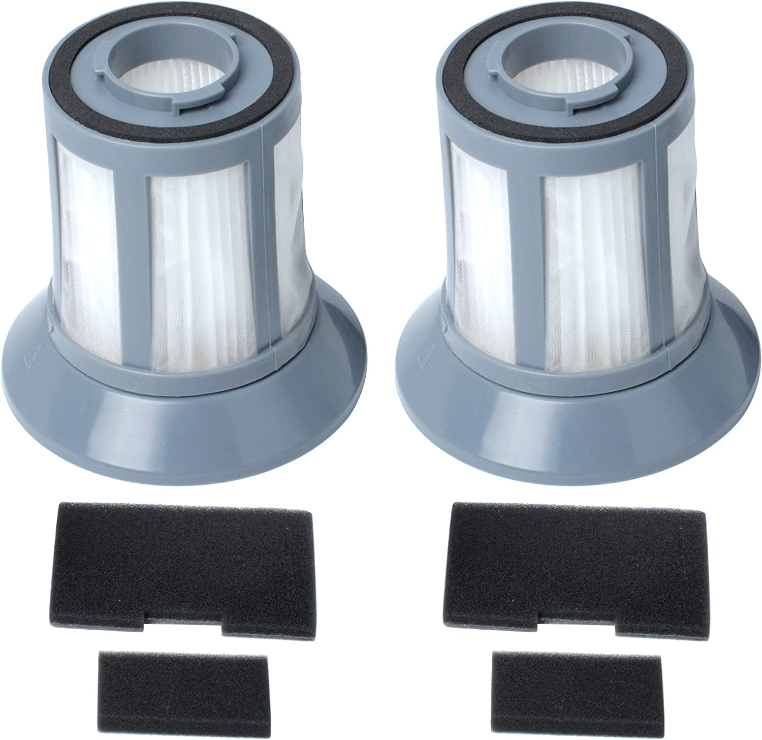 6489 Replacement Filter Compatible with Bissell 6489 64892 64894 Zing Bagless Canister Vacuums Cleaner,Part # 203-1772, 203-1771, 203-1534 Dirt Cup Filter Kit (2 Pack)