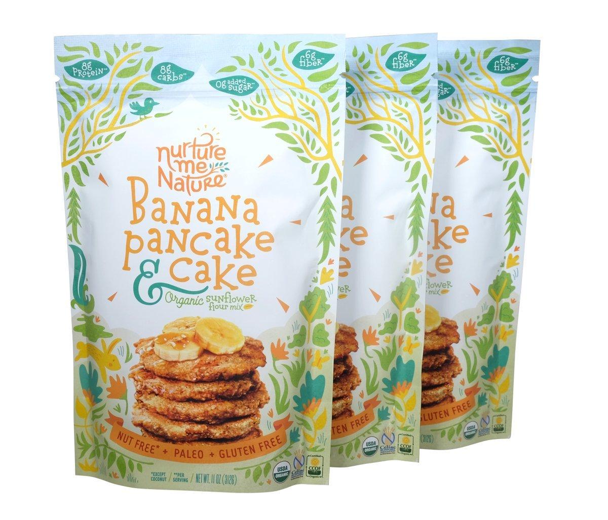 Paleo Nut Free Banana Pancake & Cake Baking Mix / USDA Organic (Pack of 3)