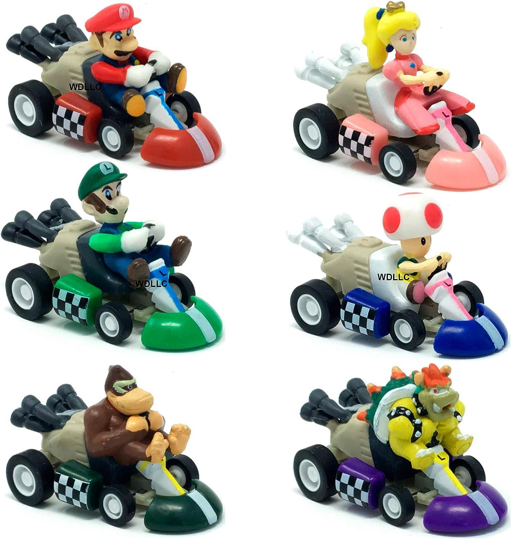 "Super Mario Bros Princess Pull Back Racer Car figure car about 5/"" long"