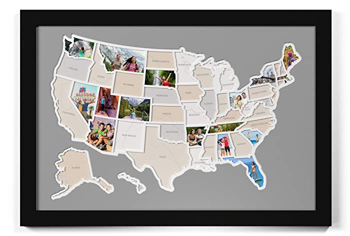 Amazon.com: 50 States USA Photo Map: Handmade