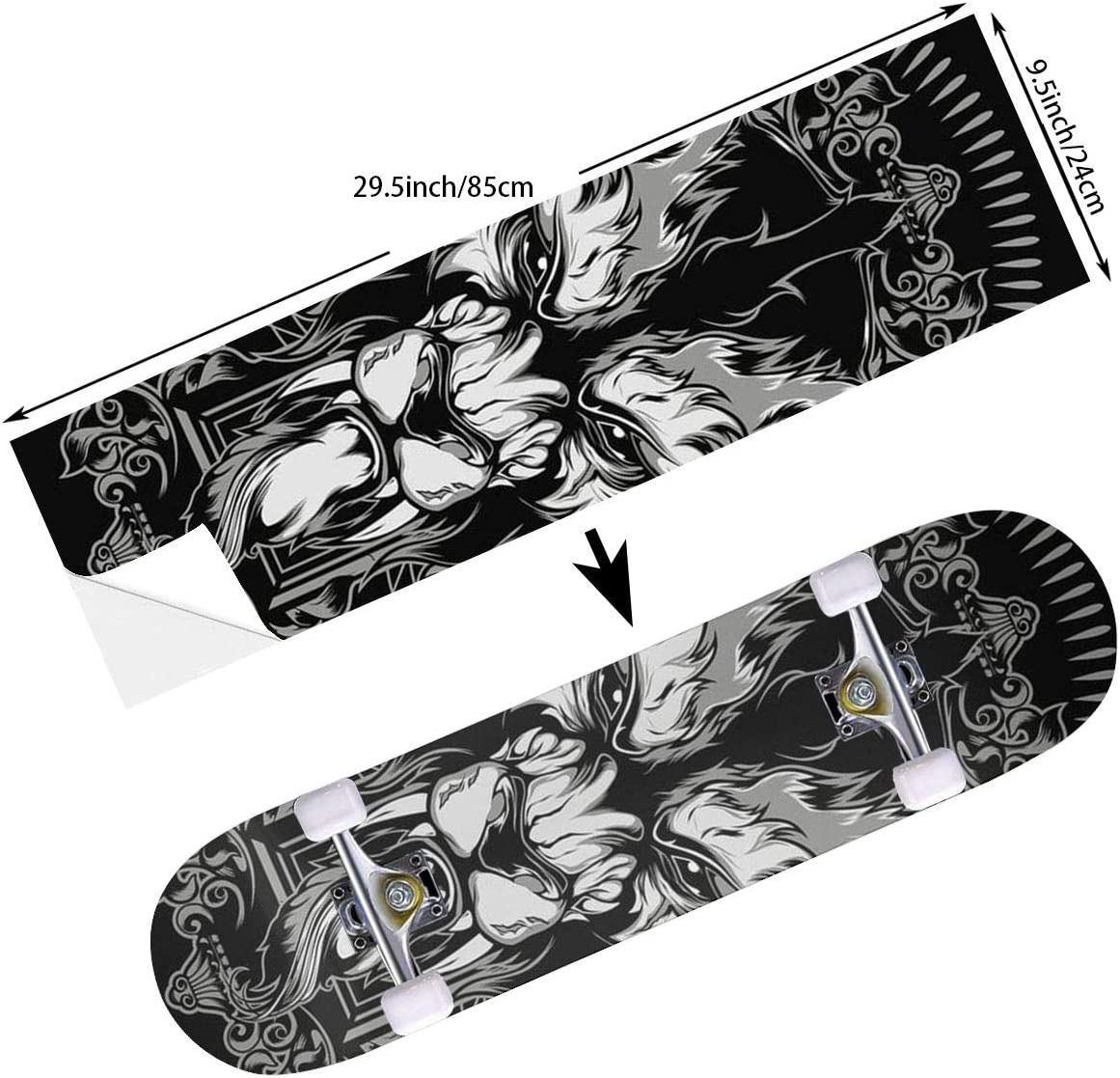 9.5 x 33.5 Inches STREET FFX Skateboard Cruiser Deck and Balance Board Stickers Decals