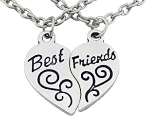 Collares de amistad Hanessa, 2 collares con colgantes en forma de corazón Best Friends, regalo para la mejor amiga/esposa