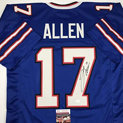 new style 2927b d5db9 Autographed/Signed Josh Allen Buffalo Blue Football Jersey ...