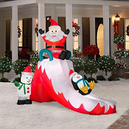 Amazon.com: Decoración Césped Yard Papá Noel hinchable de ...