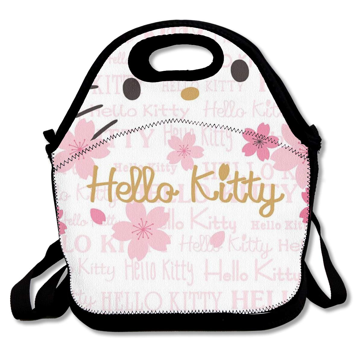 c45d3b2c96 Amazon.com - LIUYAN Personalized Lunch Bags Hello Kitty Face Handbag with  Adjustable Shoulder Strap for Work School Meal Prep -